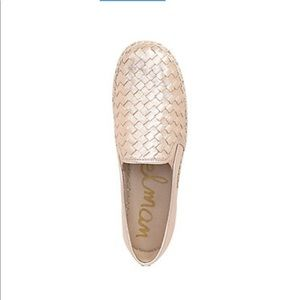 New Sam Edelman Blush Leather Woven Espadrilles